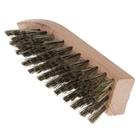 """Щетка для обуви """"Стрелка"""" 69 пучков, натуральный волос, цвет черный"""