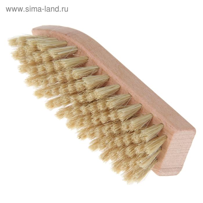 """Щетка для обуви """"Стрелка"""" 79 пучков, натуральный волос, цвет белый"""
