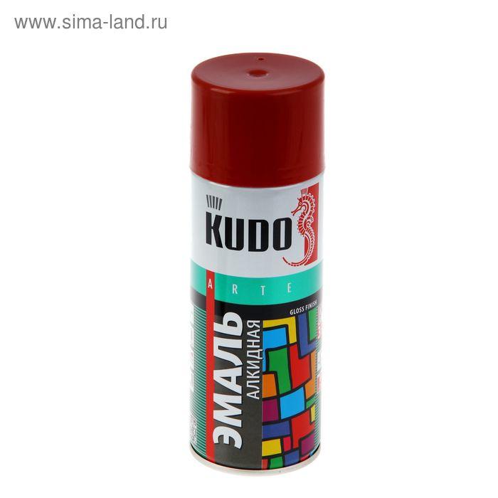 Эмаль алкидная универсальная Kudo красно-коричневая, 0,52л