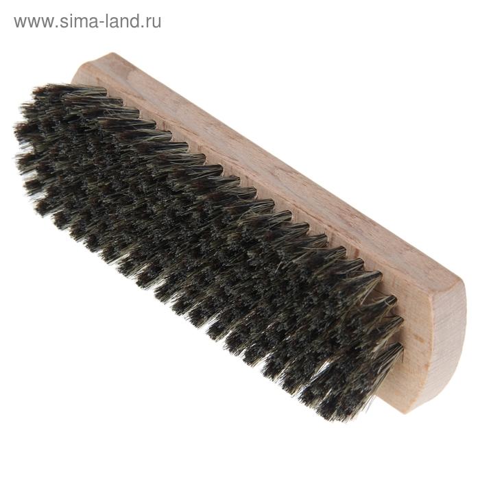 Щетка для обуви 128 пучков, натуральный волос, цвет черный