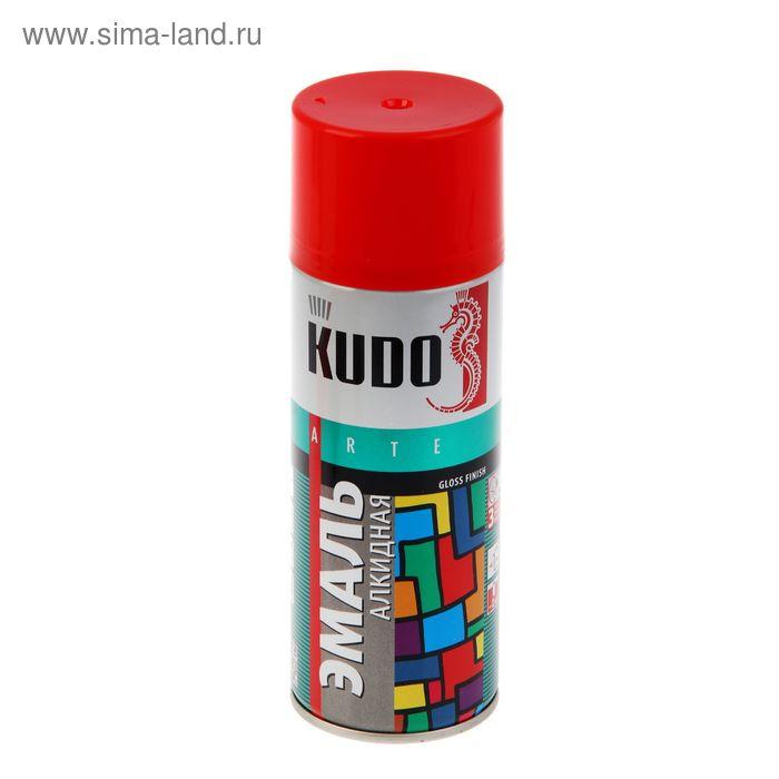 Эмаль алкидная универсальная Kudo красная, глянцевая, 0,52л