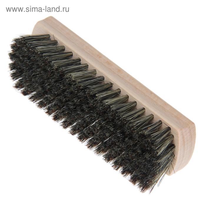 Щетка для обуви 121 пучок, натуральный волос, цвет черный