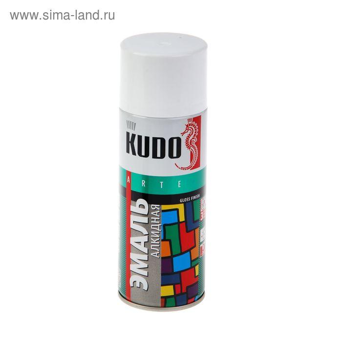Эмаль алкидная универсальная Kudo белая, глянцевая, 0,52л