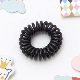 Резинка для волос 'Пружинка', чёрная Ош
