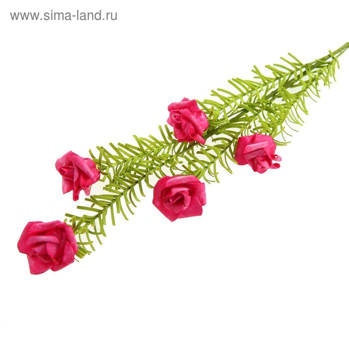 """Цветы искусственные """"Розы с мелкими листьями"""" микс"""