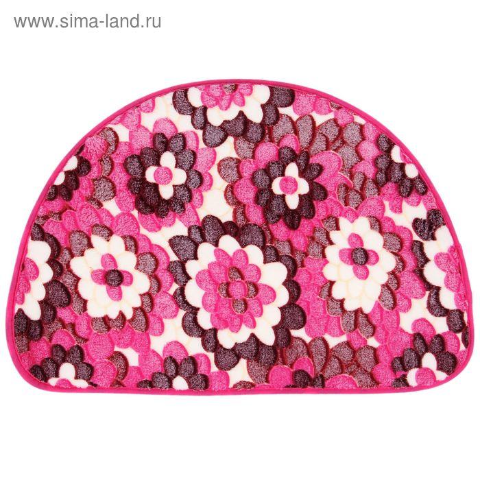 """Коврик для ванной 40х60 см """"Розовые цветы"""""""