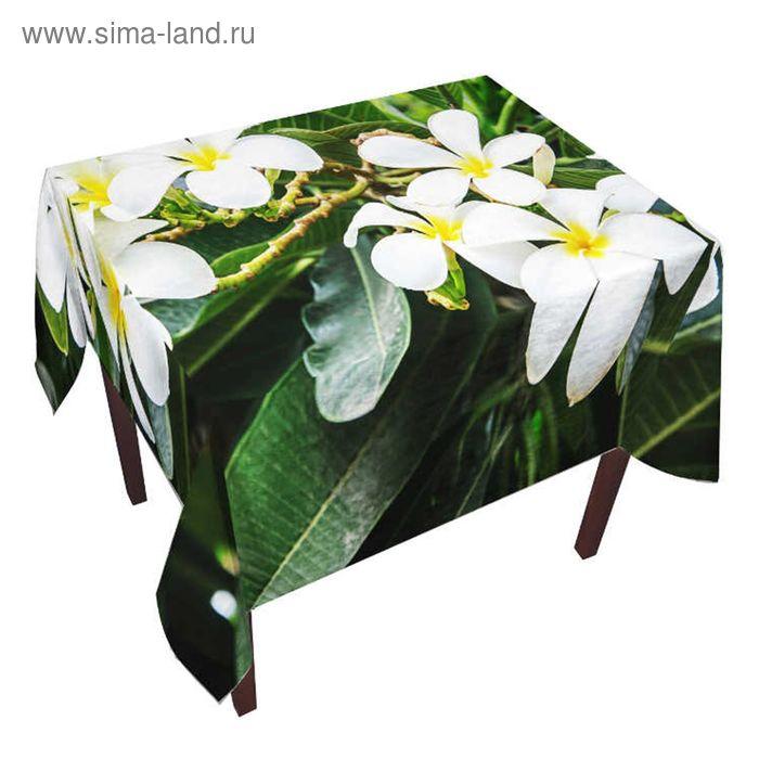 """Скатерть """"Тропические цветы"""", размер 150х220 +/- 3 см, габардин"""
