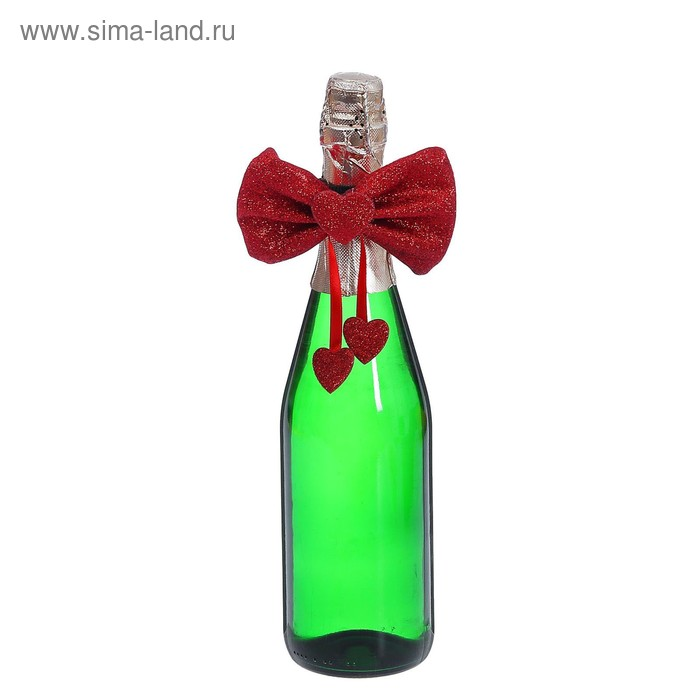 "Одежда на бутылку ""Бабочка сердечко"", цвета МИКС"