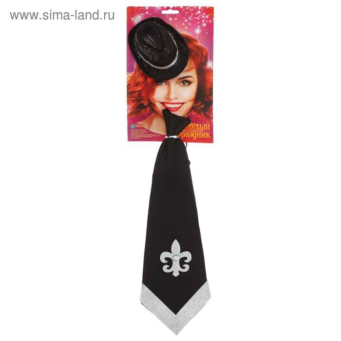 Карнавальный набор 2 предмета: шляпка, галстук, цвета МИКС