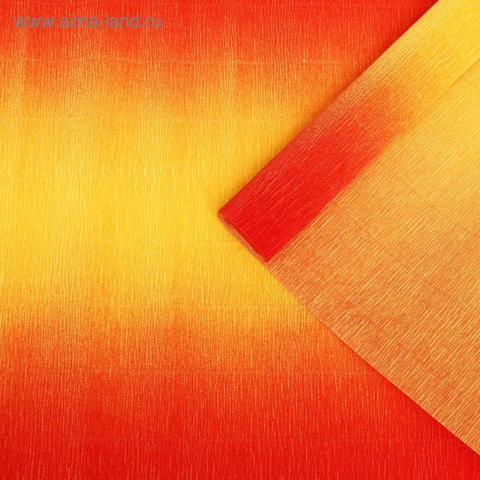 Бумага гофрированная 576/9 желто-красная, 50 см х 2,5 м