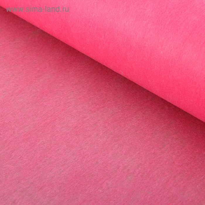 Фетр однотонный светло-малиновый (rose) 50 см х 18,2 м