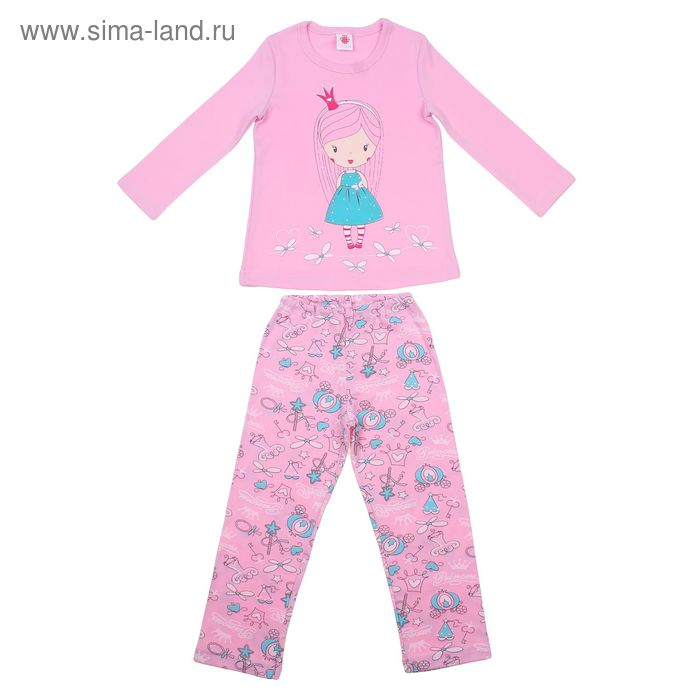 """Пижама для девочки """"Принцесса"""", рост 98-104 см (56), цвет орхидея Р217536"""