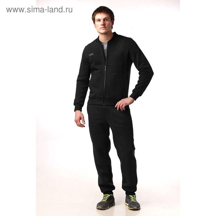 Костюм мужской (жакет, брюки) М-41-05 черный, р-р 52