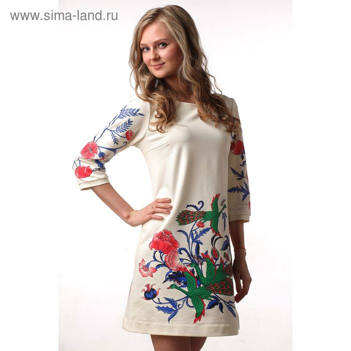 Платье женское М-231-05 экрю, р-р 52