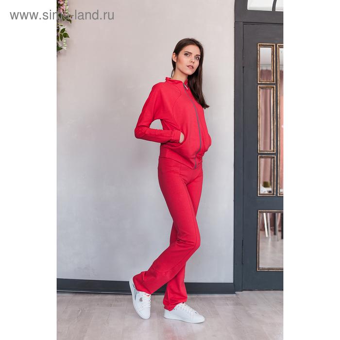 Костюм женский (куртка, брюки) М-529-05 коралл, р-р 46