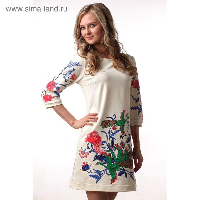 Платье женское М-231-05 экрю, р-р 46