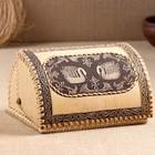 Хлебница «Лебедь», сложная, 28х22х15 см, береста