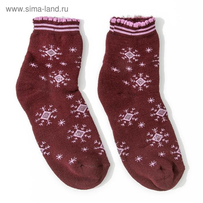 Носки женские махровые с начесом, размер 23-25, цвет МИКС