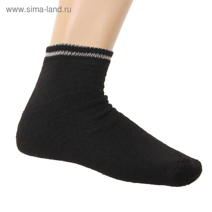 Носки мужские махровые, размер 25, цвет черный
