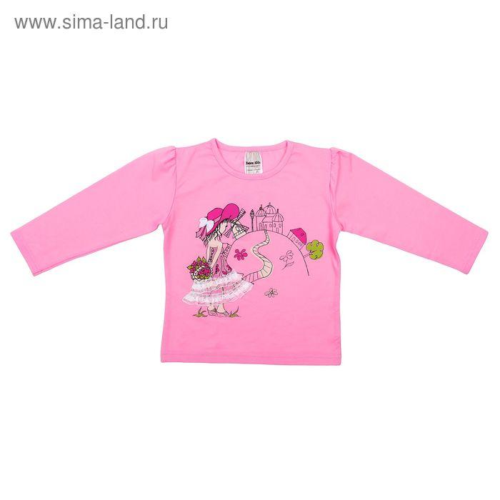 """Джемпер """"Девочка в шляпе"""", рост 104 см, цвет розовый 777-443"""