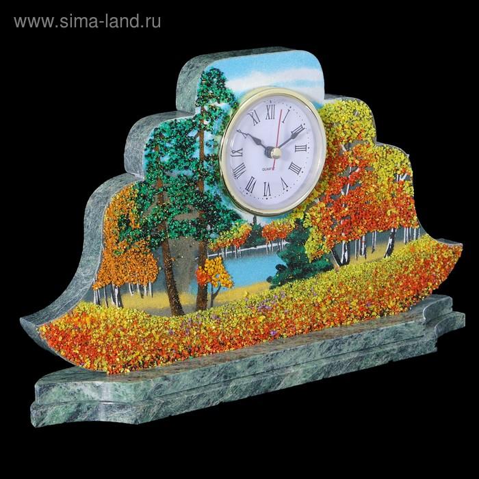 "Часы Наполеон ""Осень"" 27х15х4 см 194424 змеевик"