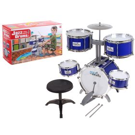 """Барабанная установка """"Джаз"""", 5 барабанов, 1 тарелка, стульчик"""