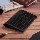 """Обложка для паспорта """"Герб"""", коричневый скат"""