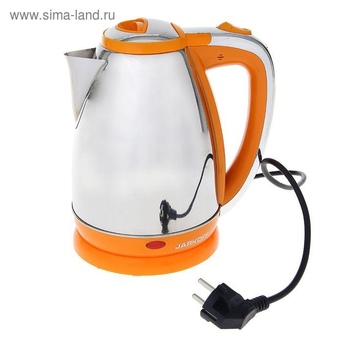 Чайник электрический Jarkoff JK-200Y, 1.8 л, 1850 Вт, металл, оранжевый