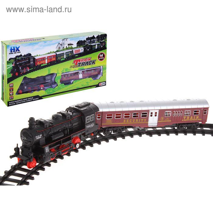 """Железная дорога """"Классический поезд"""", с 1 вагоном, световые и звуковые эффекты, 14 деталей"""