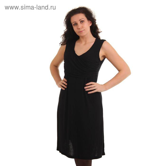 Платье женское MV19091 черный, р-р 96 (48)