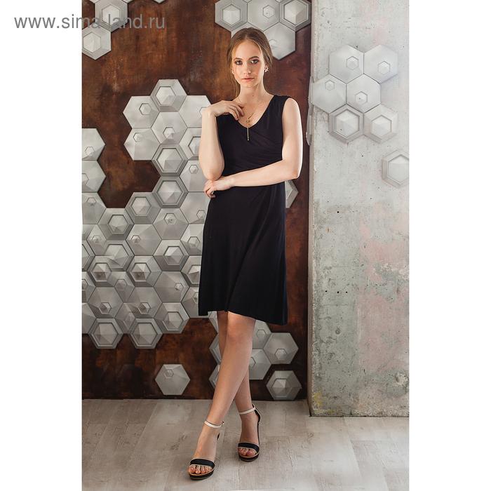 Платье женское MV19091 черный, р-р 88 (44)