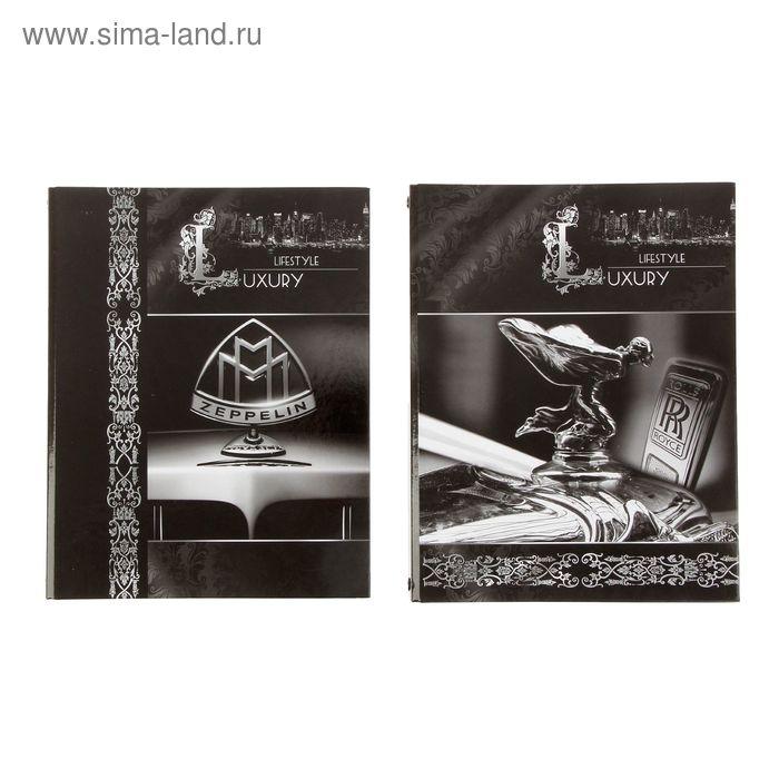 Тетрадь на кольцах А5, 160 листов клетка Luxury Style, ламинация, МИКС