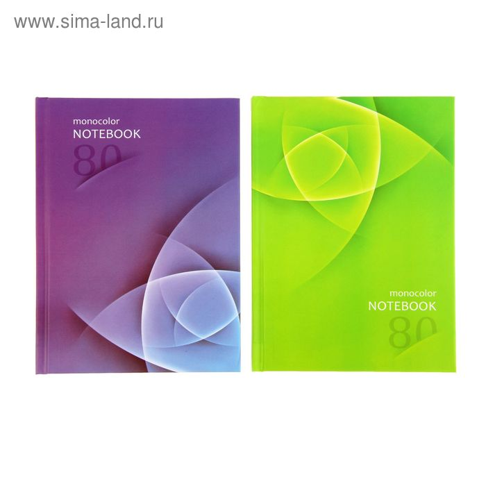 Бизнес-блокнот твердая обложка А6, 80 листов Only Color, матовая ламинация, МИКС