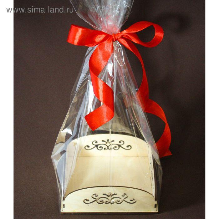 """Подарочная упаковка """"Вензеля"""", с жестким дном, 14х14х5 см"""