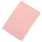 Полотенце махровое гладкокрашеное, размер 100х150 см, 500 г/м², цвет персик