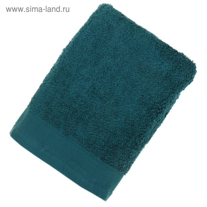 Полотенце махровое гладкокрашеное, размер 50х100 см, 500 г/м², цвет изумруд