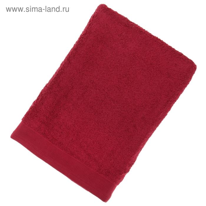 Полотенце махровое гладкокрашеное, размер 100х150 см, 500 г/м², цвет рубин