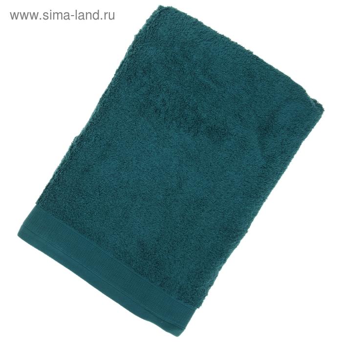 Полотенце махровое гладкокрашеное, размер 70х140 см, 500 г/м², цвет изумруд