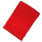 Полотенце махровое гладкокрашеное, размер 100х150 см, 500 г/м², цвет красный