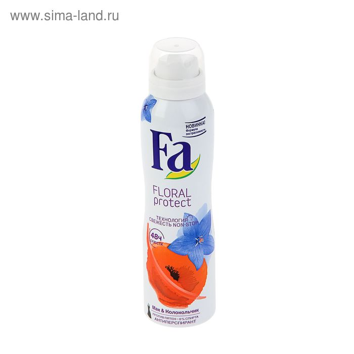 Дезодорант-антиперспирант Fa  аэрозоль Floral Protect Мак & Колокольчик, 150 мл