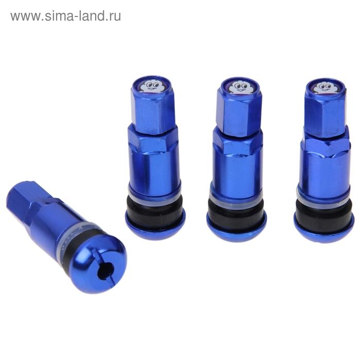 Набор вентилей для автомобильного диска, 4 шт., 42 мм, синие