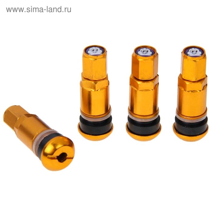 Набор вентилей для автомобильного диска, 4 шт., 42 мм, золотые