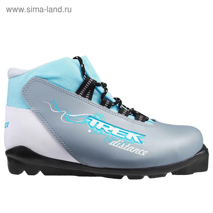 Ботинки лыжные TREK Distance Women SNS ИК (серый металлик, лого голубой (р. 40
