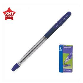 Ручка шариковая Pilot BPS-GP, резиновый упор, 0.7мм, масляная основа, стержень синий