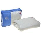Одеяло кассетное Камелия 140х205 см легкое, гусиный пух, тик микс, 100% хлопок