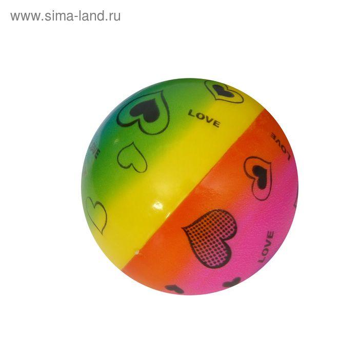 """Мягкий мяч """"Сердечки"""", 6,3 см"""