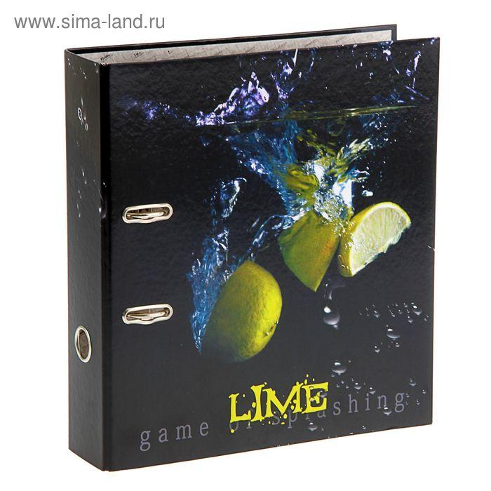Папка-регистратор А4, 75мм TIRALANA GLANCE Lime c арочным механизмом