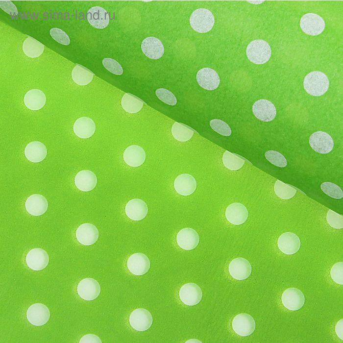 """Бумага тишью """"Горох"""", цвет зелёный"""