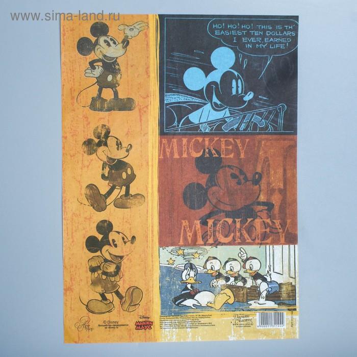 "Декупажная карта ""Классический Микки "": Микки Маус, 21 х29,7 см"