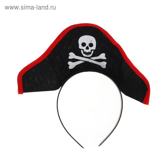 """Карнавальный ободок """"Шляпа пирата"""""""